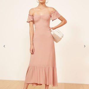 Reformation Champagne Butterfly Dress